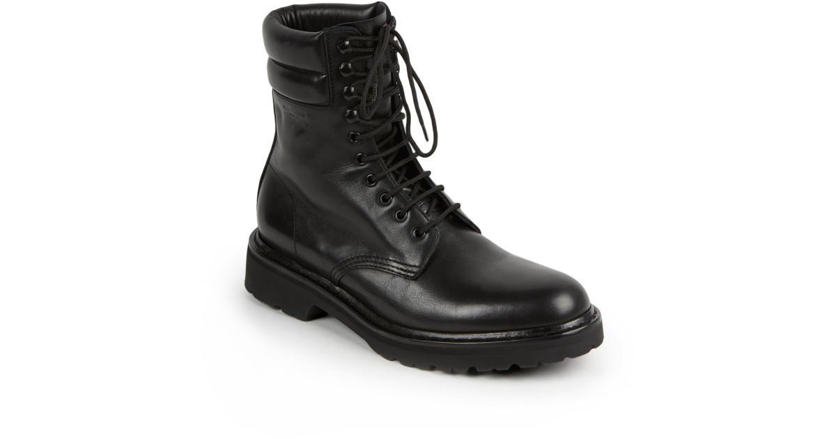 9243eabe saint-laurent-black-trekker-25-leather-lace-up-